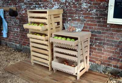 Beech Ten Drawer Apple Rack