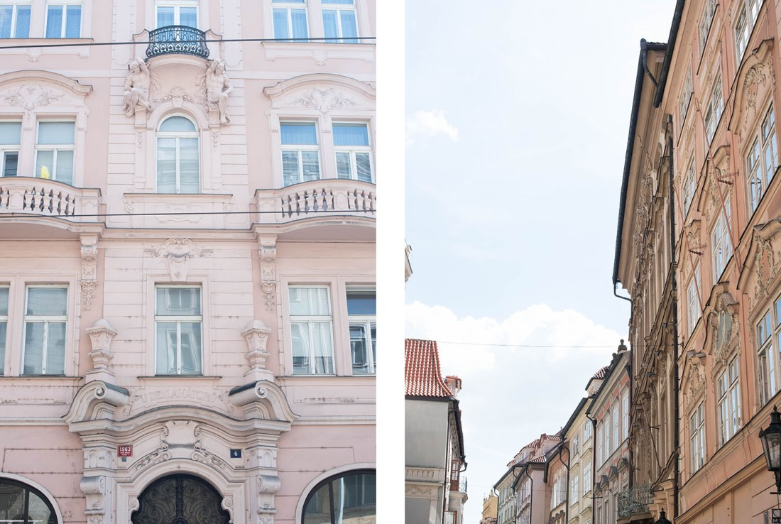 Pastel architecture in the old town of Prague, Czech Republic, as seen by travel blogger Cee Fardoe of Coco & Vera