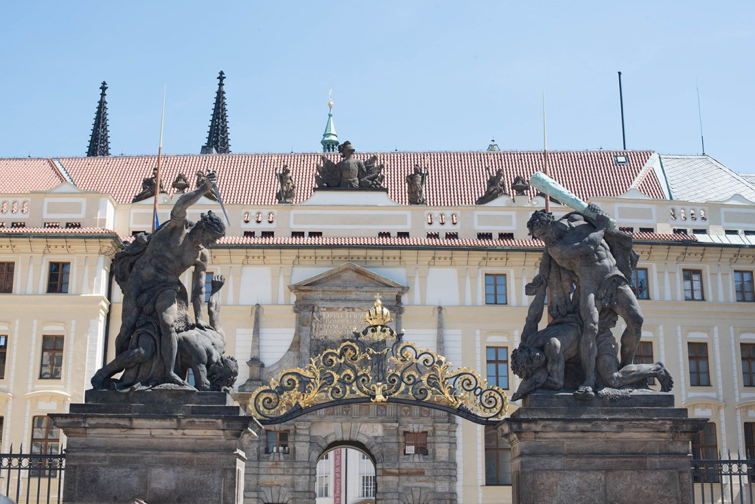 Giant's Gate at Prague Castle, captured by travel blogger Cee Fardoe of Coco & Vera