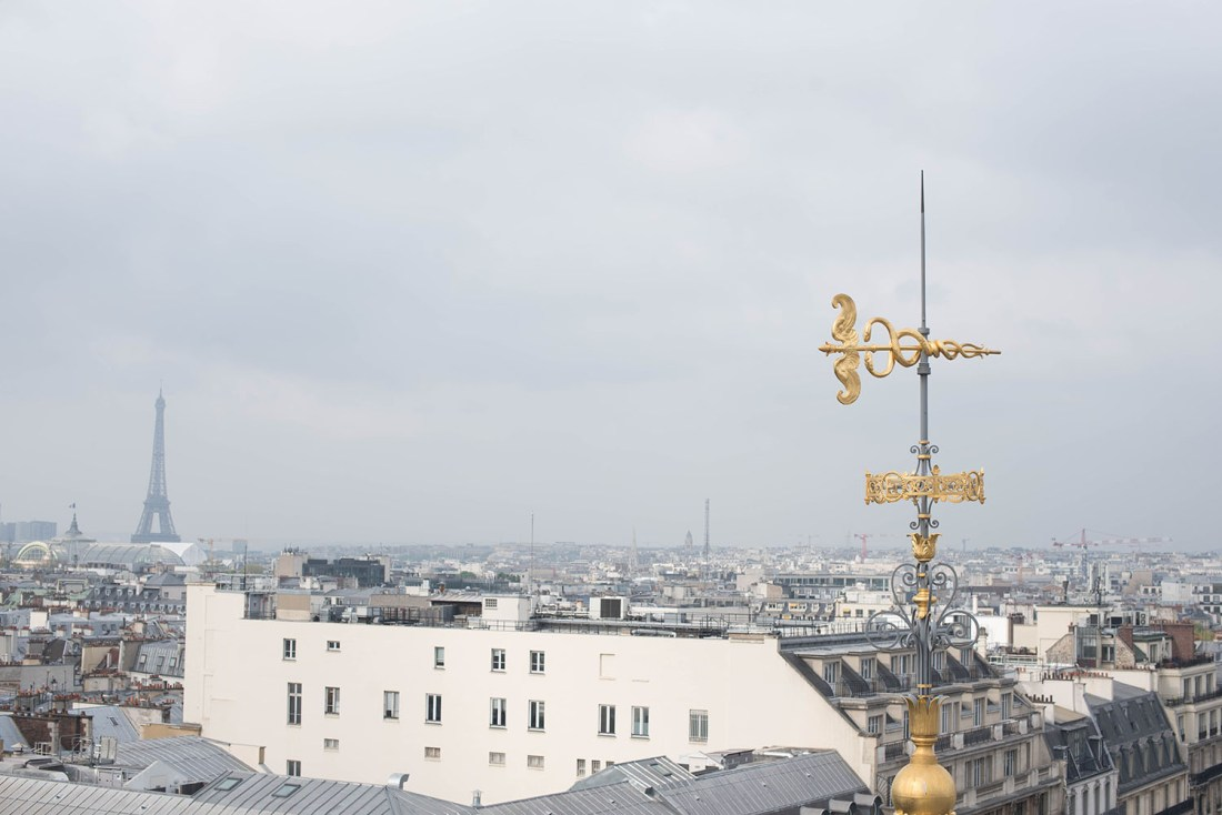 Rooftops of Paris and the Eiffel Tower, captured by travel blogger Cee Fardoe of Coco & Vera