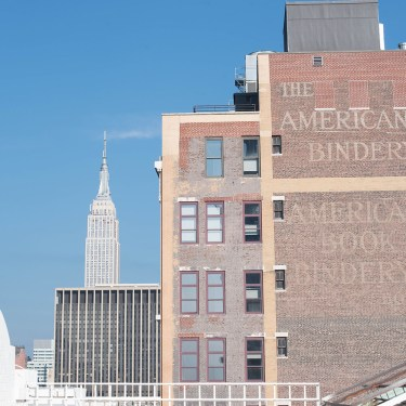 New York skyline, with the Empire State building and the American Book Bindery building, captured by travel blogger Cee Fardoe of Coco & Vera