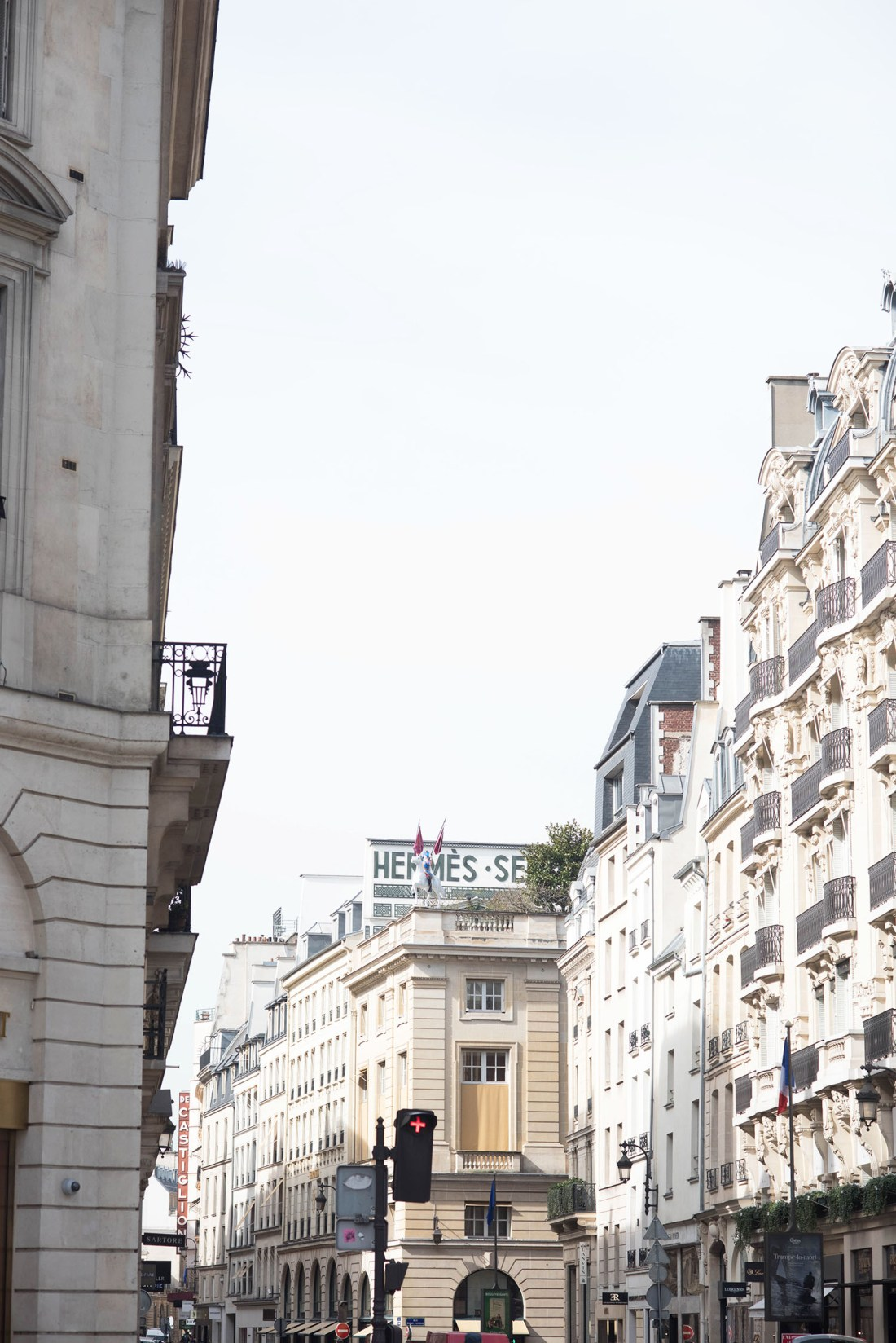 The Hermes store on rue Sainte-Honoree in Paris, as captured by top Canadian travel blogger Cee Fardoe Coco & Vera