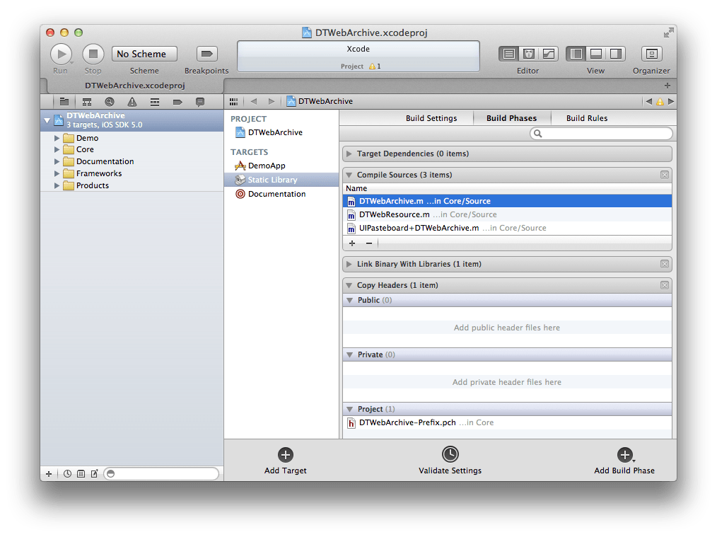 Sub-Projects in Xcode | Cocoanetics