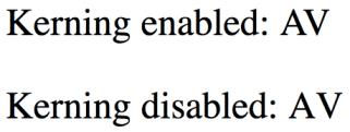 Kerning in Browser