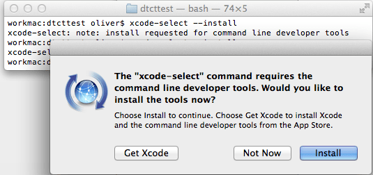 Installing Command Line Developer Tools