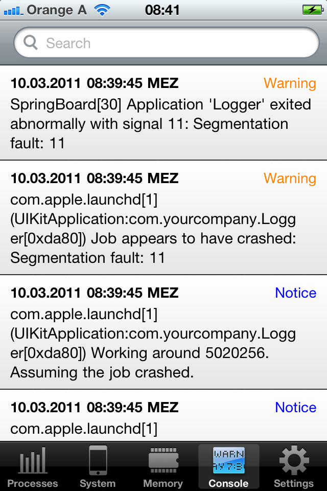 Accessing the iOS System Log | Cocoanetics