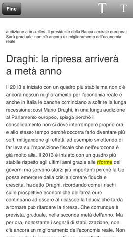 Giornale di Sicilia using DTCoreText