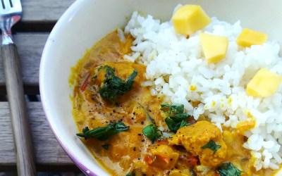 Curry vegetariano de soja texturizada