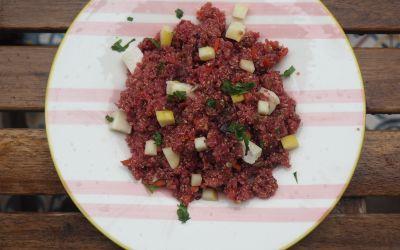 Ensalada de quinoa color unicornio