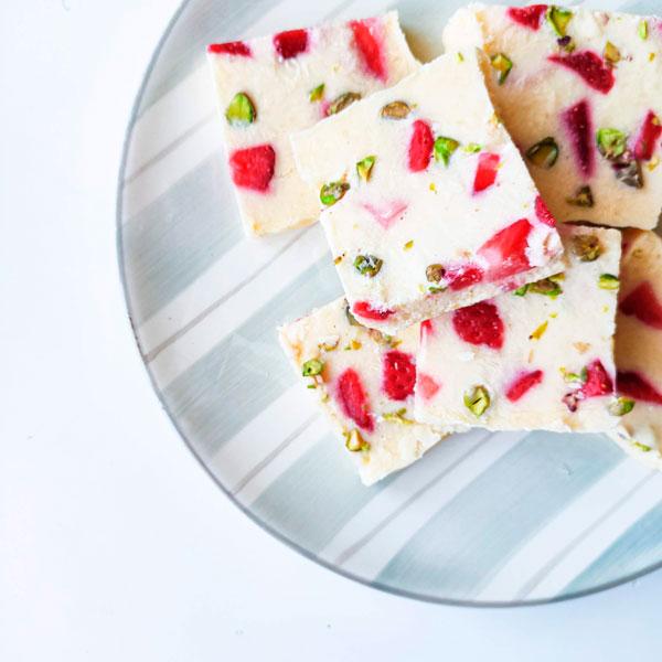 cortezas yogur barks saludable