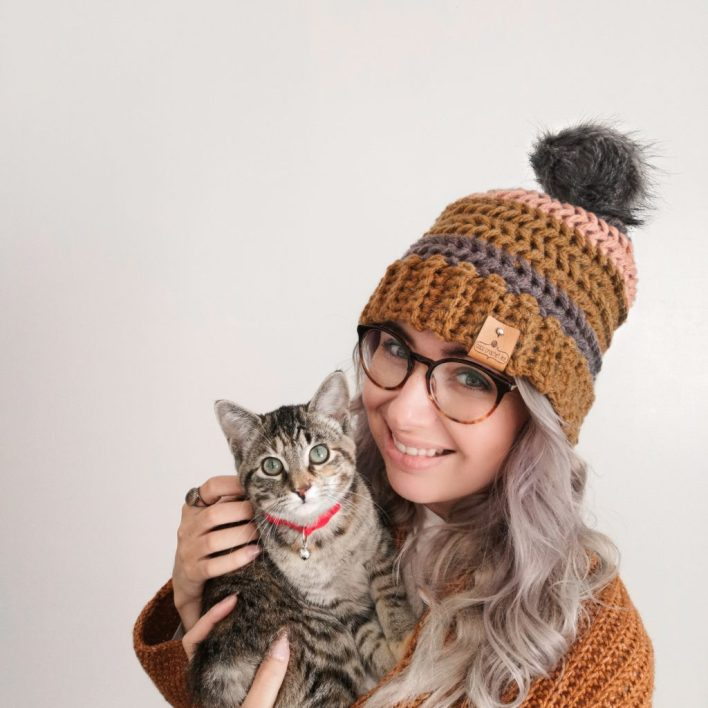 Autumn Herringbone Hat -CoCo Crochet Lee - Lion Brand Yarn - We Crochet