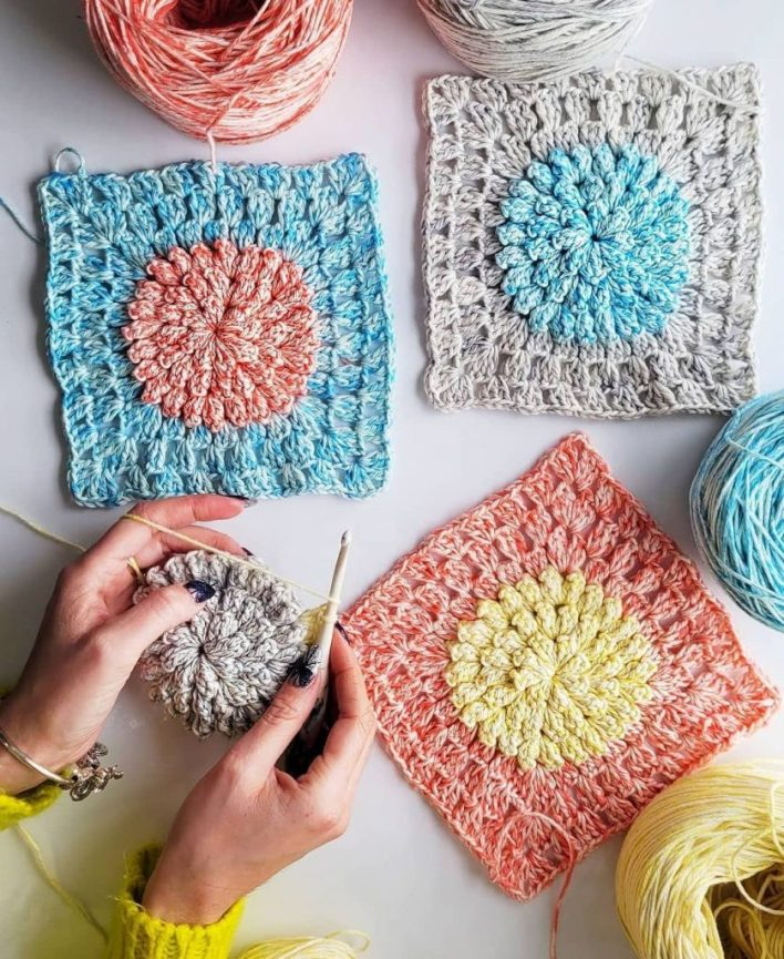 Tourmaline Pillow Free Crochet Pattern CoCo Crochet Lee WeCrochet