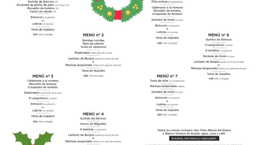 Menús Navidad 2018