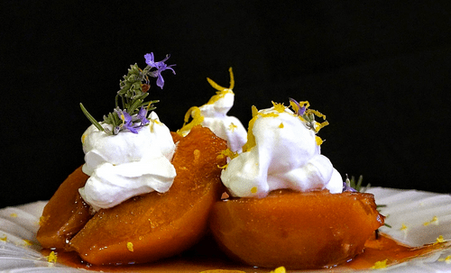 Sayat Explores Food: Cardamom Quince Confit + Rosemary Clotted Cream