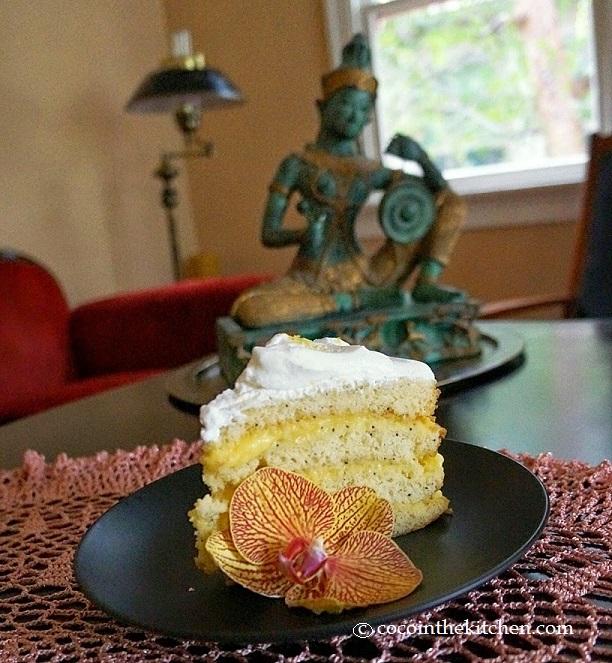 coco lemon poppy cake valentine's