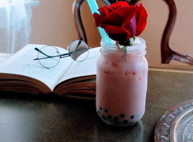 Rose Milk Tea and Homemade Rose Petal Syrup
