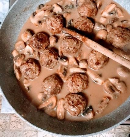 marsala mushroom meatballs