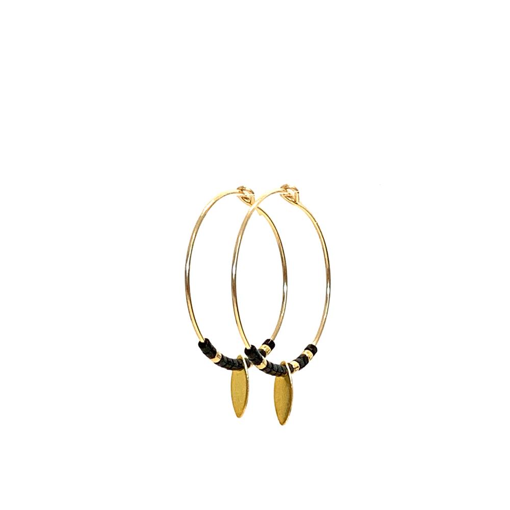 Morse code earrings Rebel black