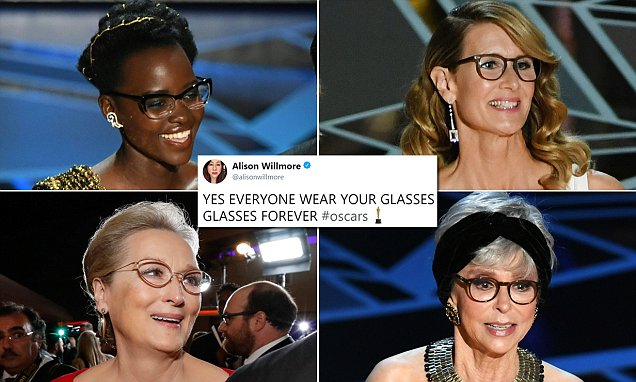 Twitter Reactions on Celebrity wearing Glasses at Oscars 2018
