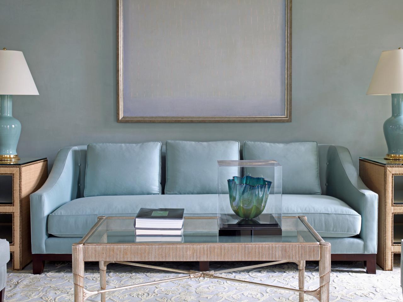decoration salon bleu pastel canape