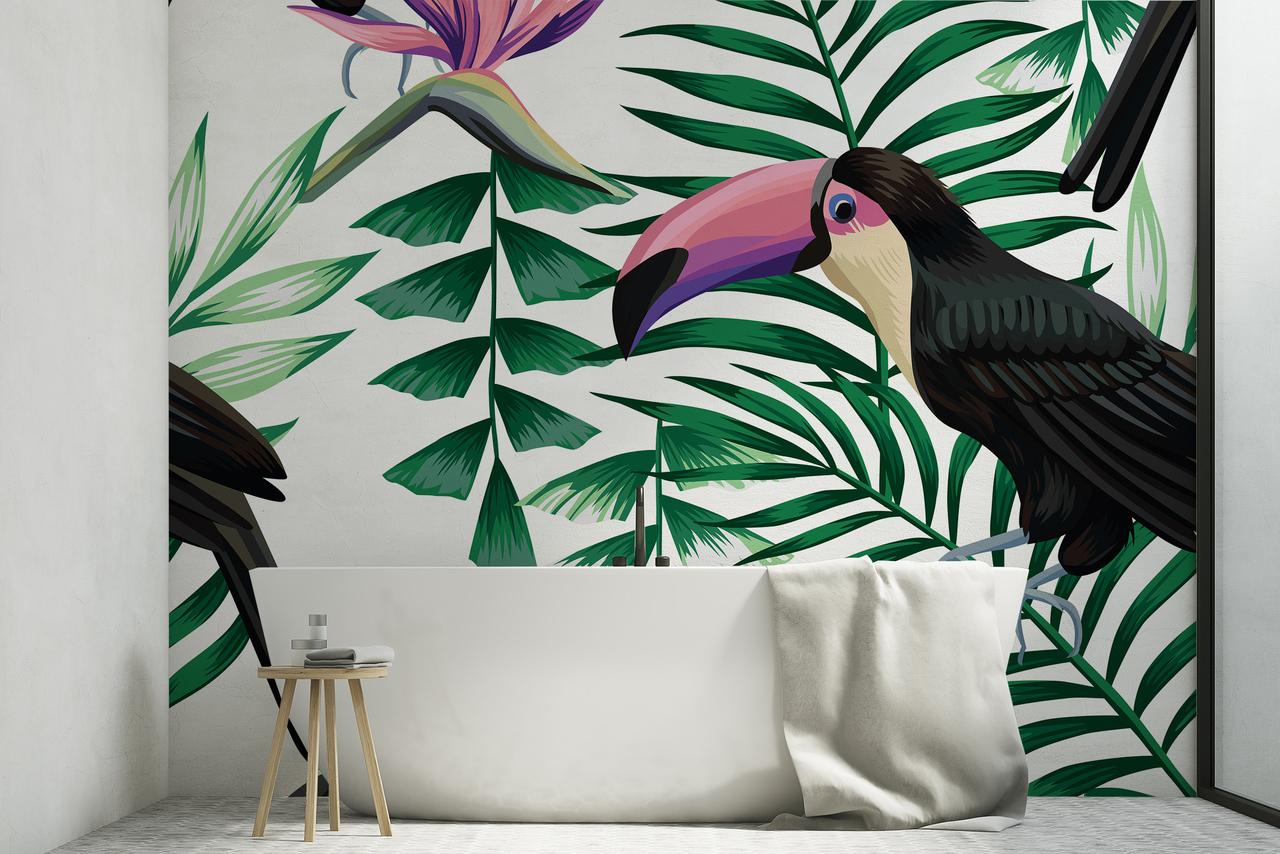 http www cocondedecoration com blog 2018 10 couleur du vert dans la salle de bain urban jungle bathroom