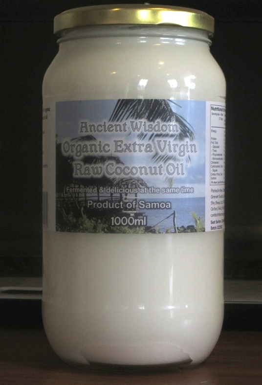 Ancient Wisdom Organic Extra Virgin Coconut Oil 1 L