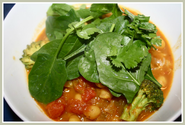 Coconut Oil Chickpea Curry