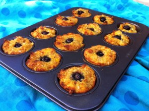 Golden blueberry muffins
