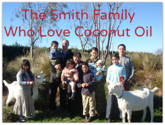 The Smith Family who love Coconut Oil and products