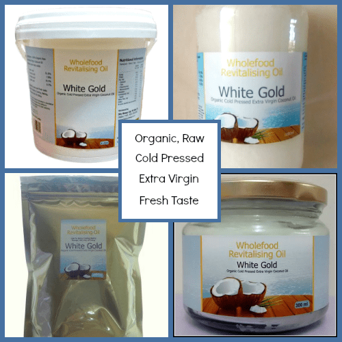 White Gold Organic Raw Cold Pressed Extra Virgin Fresh Taste