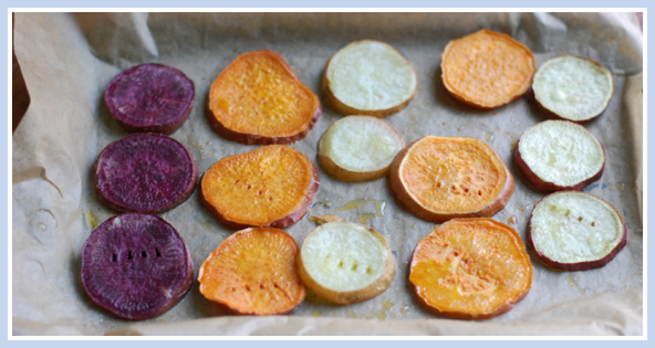 Roasted Sweet Potato Rounds (Coconut Oil Sweet Potatoes)