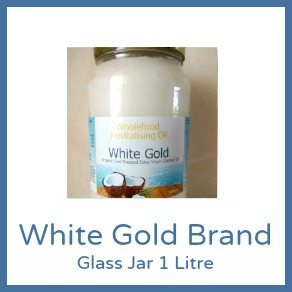 Cold Pressed Range - 1L Glass Jar White Gold