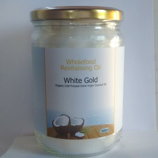 White Gold 500ml Glass Jar