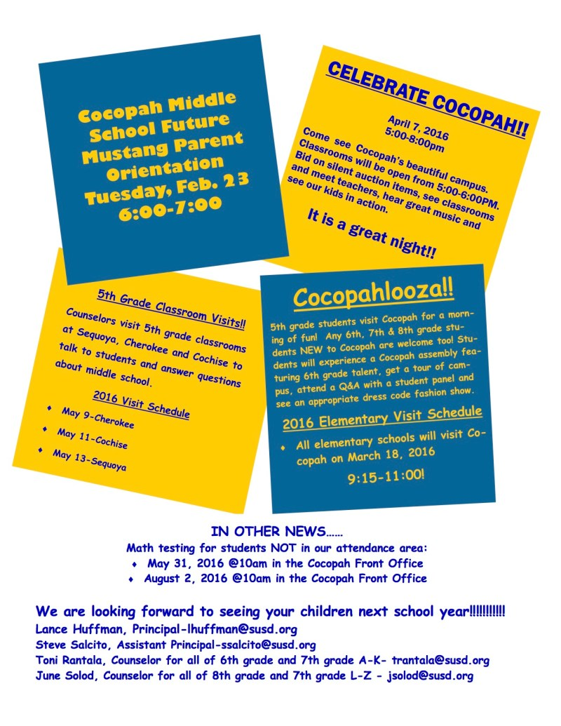 Cocopah Orientation Flyer