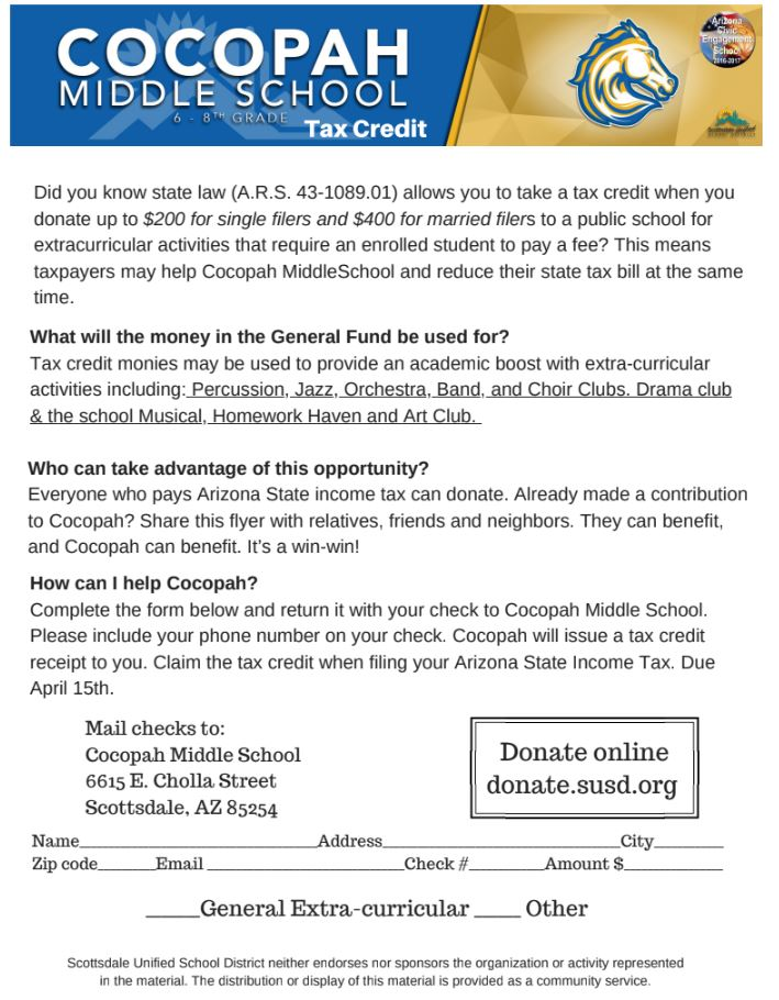 Tax Credit – Cocopah Middle School APT