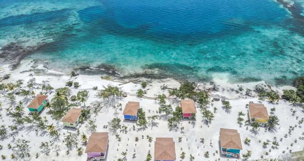 Belize Island Accommodations - Ariel Island View