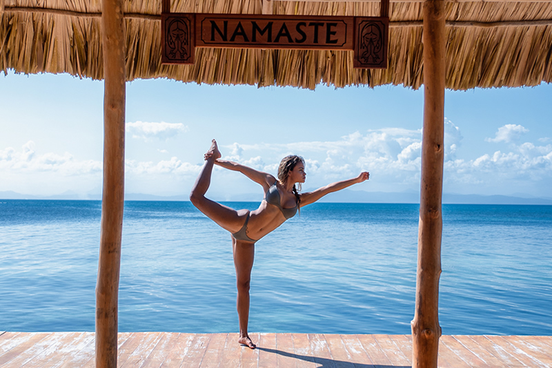 Belize Wellness vacation - try yoga