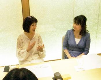 御瀧代表理事と協会の加来杏那特別講師