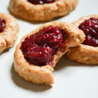 No Bake Thumbprint Cookies with Cherry Chia Jam