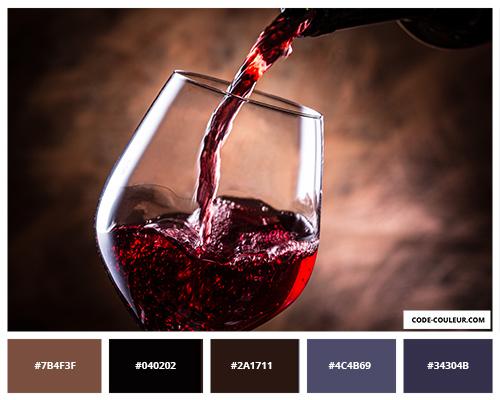 lie de vin couleur lie de vin