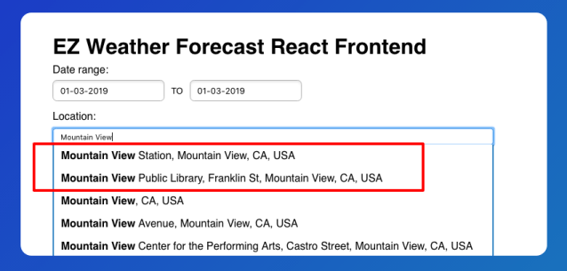 React Frontend and Flask Backend for Weather Forecast – Part 2