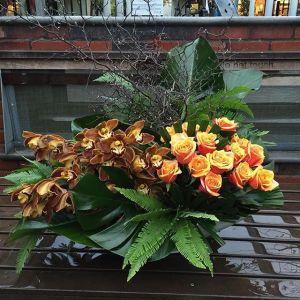 office reception flowers