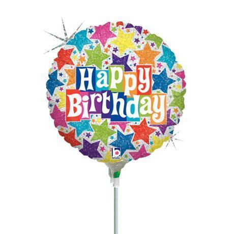 birthday stick balloon