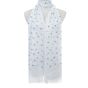 hearts and dots scarf