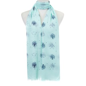 Blue Trees Scarf