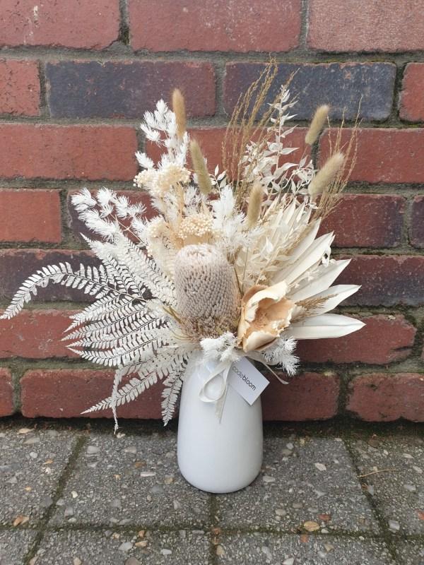 Naturals in White Vase