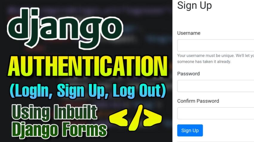 How to build Authentication Form in Django