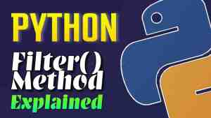 Filter() method in Python