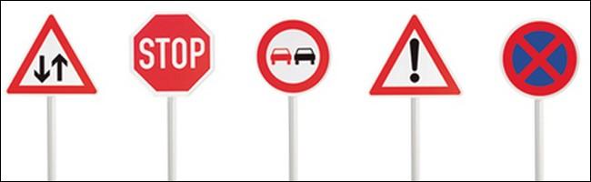 Les panneaux du code de la route