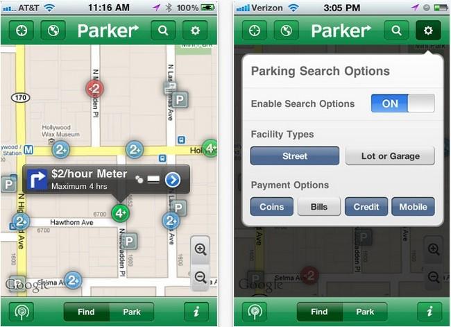 Chercher une place de parking avec Streetline